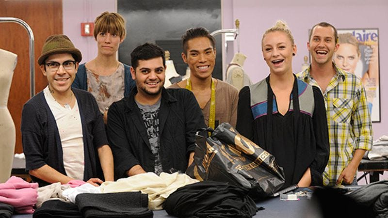 """Illustration for article titled Project Runway: """"A Look In The Line"""""""