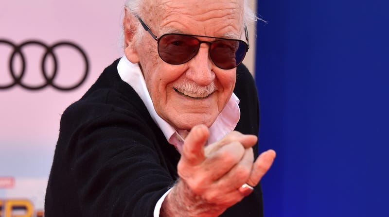 Stan Lee at the premiere of Spider-Man: Homecoming.