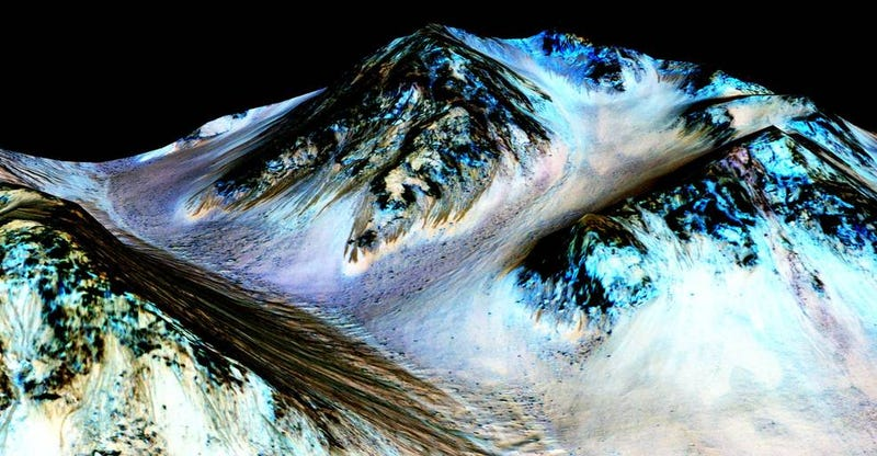 Illustration for article titled NASA Says There's Strong Evidence of Liquid Water on Mars