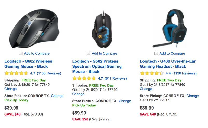 9fbd0f10915 Best Buy's Discounting Nearly a Dozen Logitech Gaming Accessories