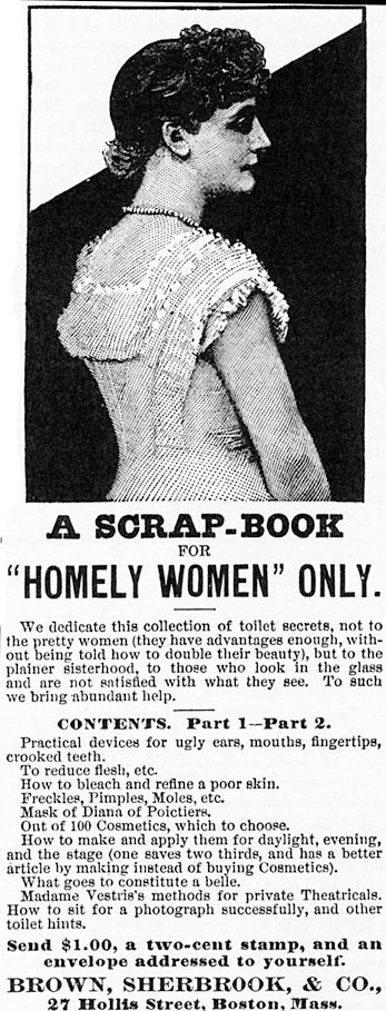 "Illustration for article titled ""A Scrap-Book For Homely Women Only"""