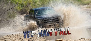Illustration for article titled We Drove The 2015 Ford F-150 Off-Road Like Wild Texans, It Got Us Home