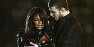 Justin Timberlake and Janet Jackson at Superbowl XXXVIII (Donald Miralle/Getty Images Sport)