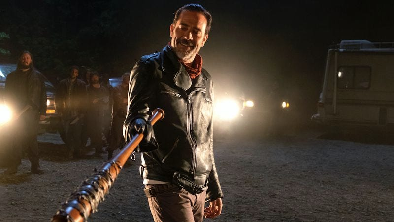 Illustration for article titled It's Negan at the bat as The Walking Dead hits a new low