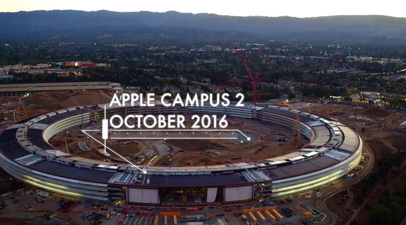 Illustration for article titled Apple's Spaceship Campus Is Glowing Now