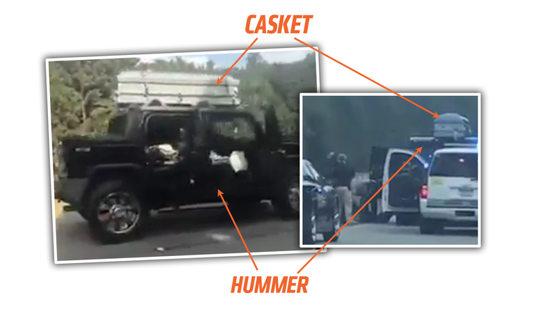 Illustration for article titled Driver Arrested After Fleeing Police In Hummer Topped With An Empty Casket
