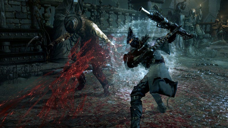 A screenshot of Bloodborne. This is not how blood will be collected at the event in Denmark, however—note the absence of an oral sex cube. (Image: Sony)