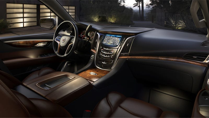 Illustration for article titled The Interior Of The 2015 Cadillac Escalade Is Like A Fancy Bookcase