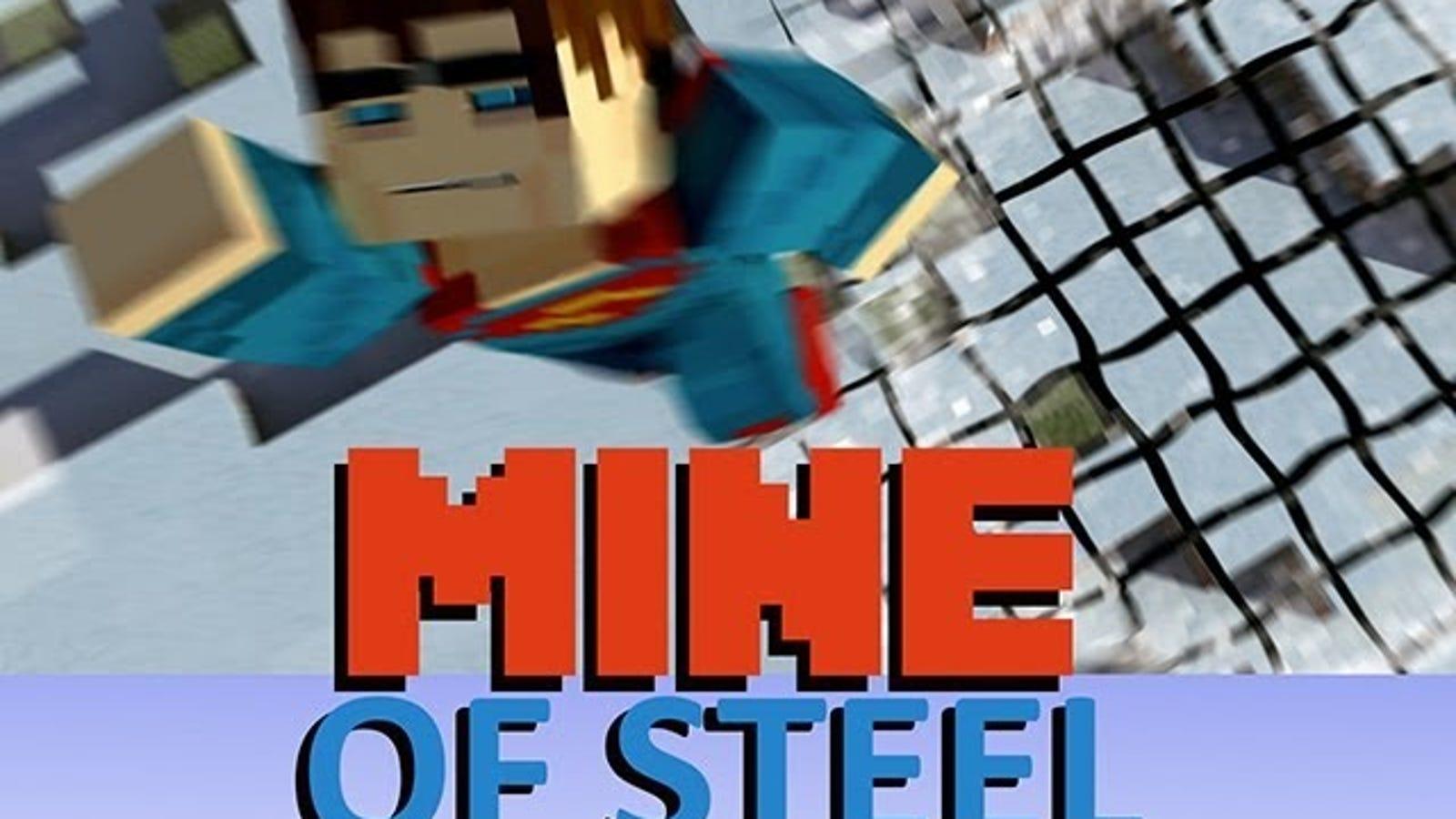 El hombre de acero más espectacular está hecho de Minecraft