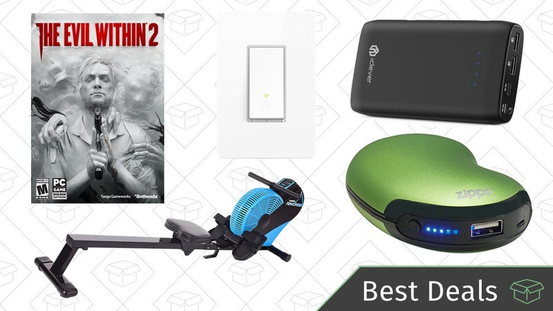 Illustration for article titled Thursday's Best Deals: Smart Switches, Air Rower, The Evil Within 2, And More