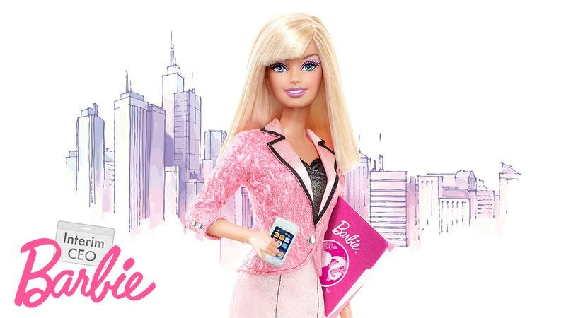 Illustration for article titled Empowering: Mattel Just Released An Interim CEO Barbie!