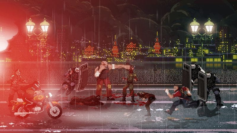 Screenshot: Mother Russia Bleeds/Devolver Digital