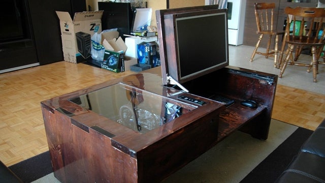 DIY ComputerInaCoffeeTable Takes the Living Room to New Levels
