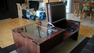 ... Your Laptop On The Couch Just Isnu0027t Hardcore Enough For You, Redditor  Hankmarkdukas Shows Us How To Build A Flip Top Computer Built Into A Coffee  Table.