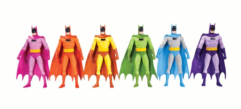 Illustration for article titled We're Finally Getting Those Rainbow Batman Figures