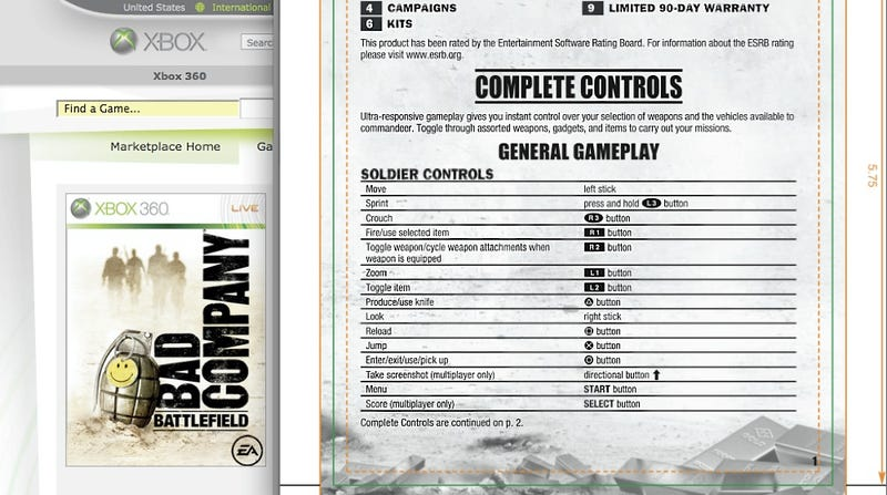 Illustration for article titled Bad Company Xbox 360 On Demand Offers PS3 Manual