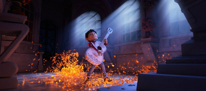 Illustration for article titled In Pixar's Coco, a Guitar Sends a Boy to the Land of the Dead