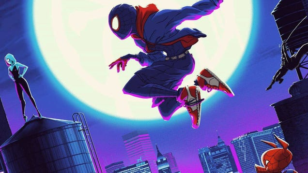 This Gorgeous Spider-Man: Into the Spider-Verse Poster Has Multiple Dimensions of Its Own