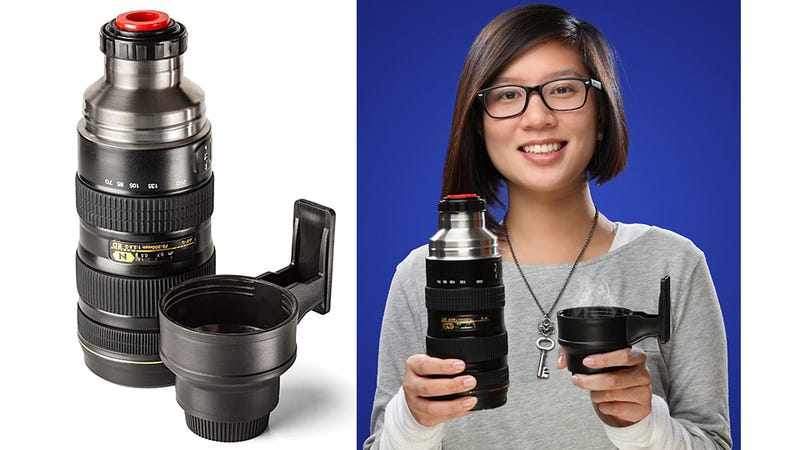 Illustration for article titled Nonpartison Telephoto Lens Thermos Appeals To All Photographers