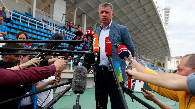 Dmitry Shlyakhtin, President of Russia's Athletics Federation. Photo: Alexander Zemlianichenko/AP