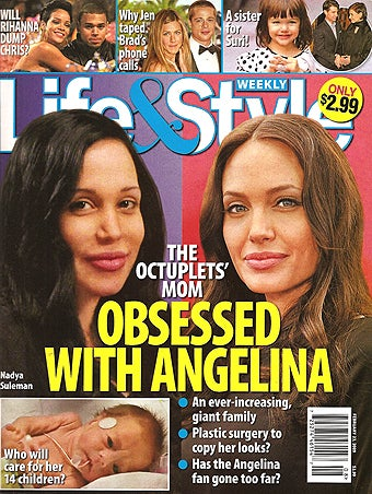 """Illustration for article titled This Week In Tabloids: """"Octomom"""" Vs. Angelina; Jennifer Aniston's Tapes"""