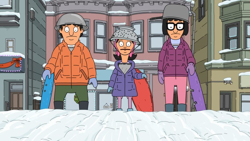 Illustration for article titled Bob's Burgers doesn't let Christmas get in the way of snowball warfare