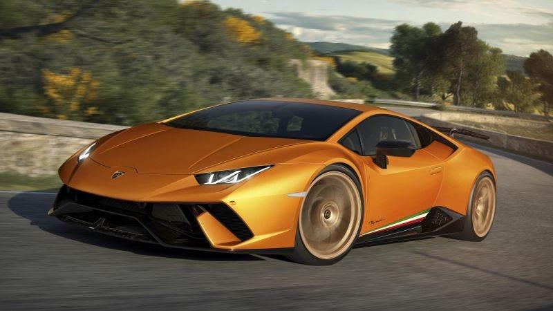 El precioso Lamborghini Huracan.