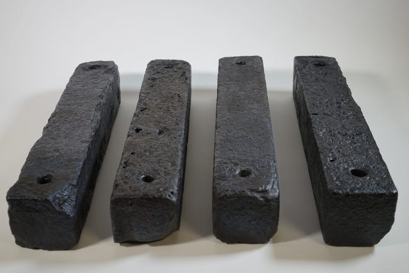 Ballast blocks from the Saõ José slave ship, which sank in December of 1794 off the coast of South AfricaThe Slave Wrecks Project
