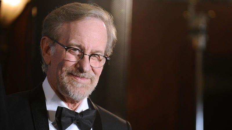 Steven Spielberg wears a tuxedo.