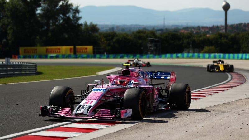 Esteban Ocon of Force India at the Hungarian Grand Prix.