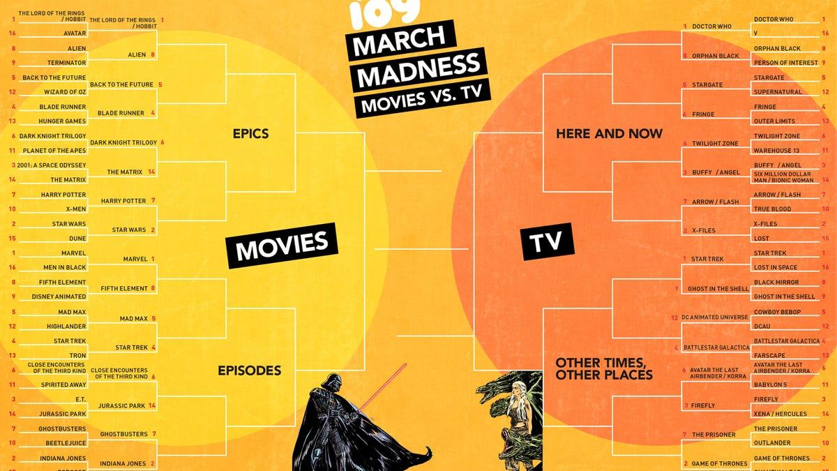 io9 March Madness Round 2: Harry Potter Vs  Star Wars! Hobbit Vs  Alien!