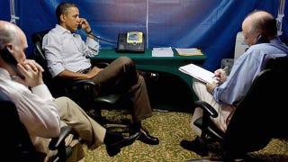 Illustration for article titled Barack Obama's Super Secure Tent Lets Him Hold Top Secret Discussions