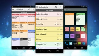 Illustration for article titled Colornote Notepad Takes and Saves Notes, Puts them on Your Home Screen for Easy Access