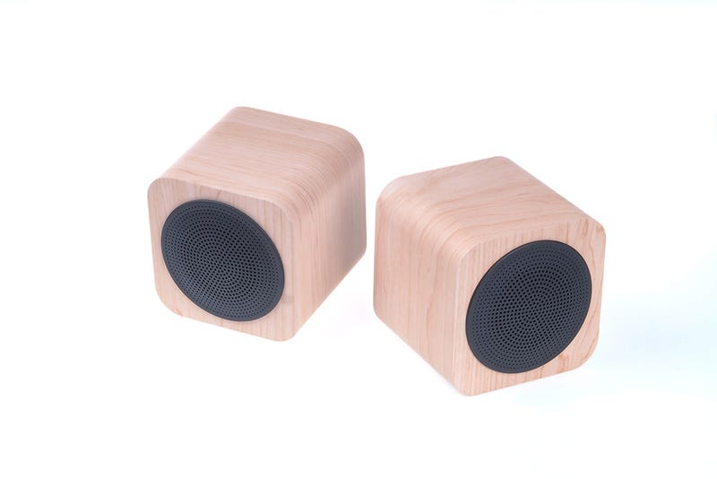Illustration for article titled Popular product from Manufacturer AVWOO !Classical Mini Wooden  Bluetooth Speaker which can be create R&L stereo by using any two of  them