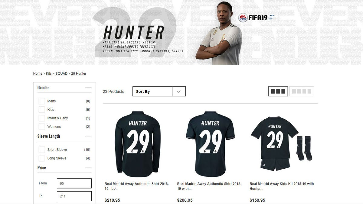 65cc2c220 Real Madrid Are Selling Actual Alex Hunter Jerseys