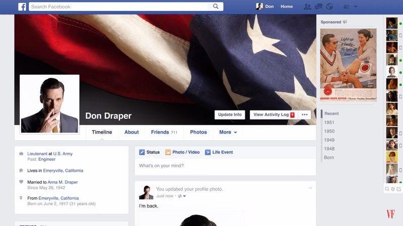 Illustration for article titled Watch Don Draper get divorced on Facebook
