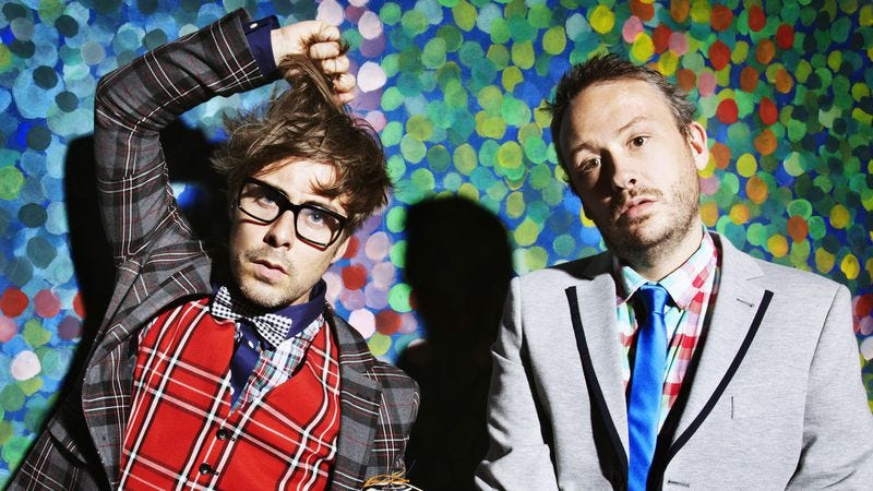Illustration for article titled Electro pioneers Basement Jaxx color between the lines, with uneven results