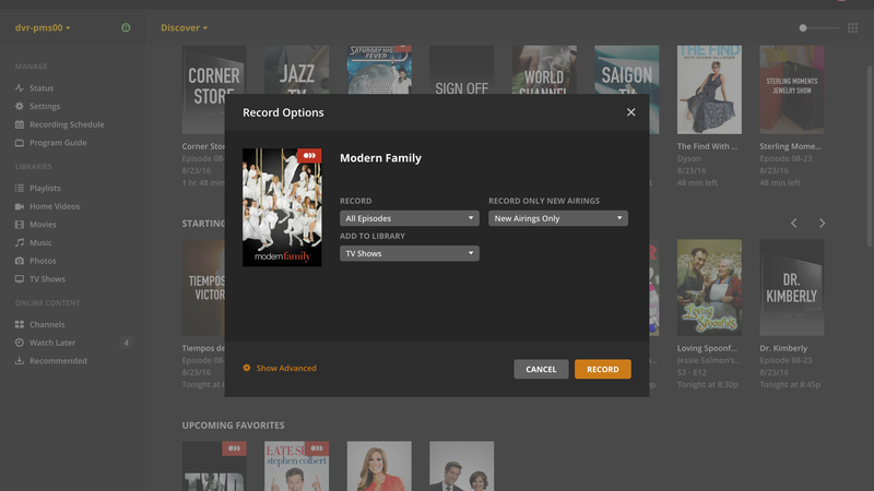 Plex Can Now Be Your DVR, Record Over-the-Air TV With a
