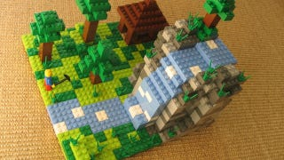 """Illustration for article titled """"LEGO Minecraft Micro World"""" to be Unveiled Next Week"""