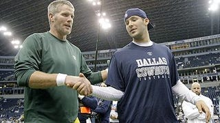 Illustration for article titled Romo-Favre Manlove Getting A Little Unbearable