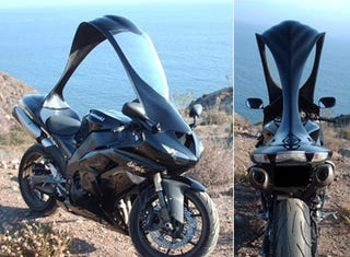 Illustration for article titled Rocketshields Put a Detachable Roof on Your Sportbike