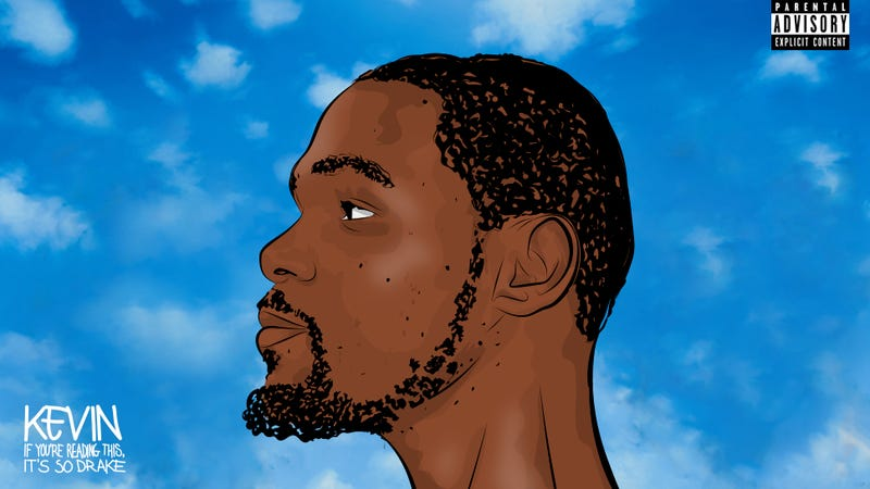 Illustration for article titled Kevin Durant Is Turning Into Drake Right Before Our Eyes
