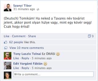 Illustration for article titled Deutsch: Tavares=Tovaris Szanyi: Deutsch=hülye segg