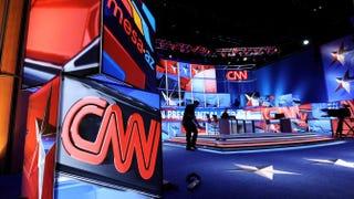 A CNN set in Mesa, Ariz., Feb. 22, 2012Ethan Miller/Getty Images