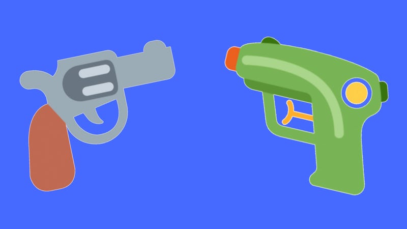 Illustration for article titled Twitter Bails onthe Cartoon Pistol Emoji