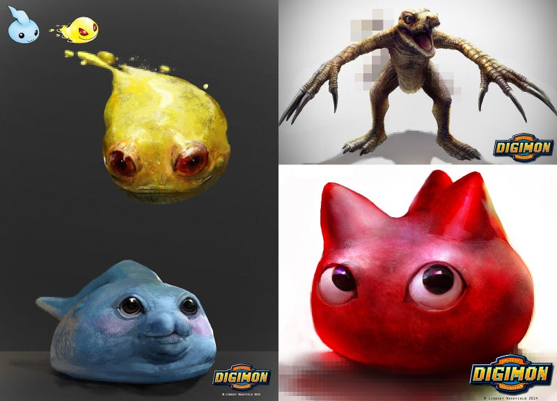 Illustration for article titled Realistic Digimon are Mildly Disturbing