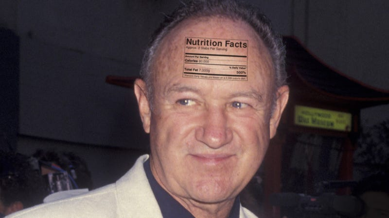 Illustration for article titled Ominous: The USDA Has Printed Gene Hackman's Nutritional Information On His Forehead