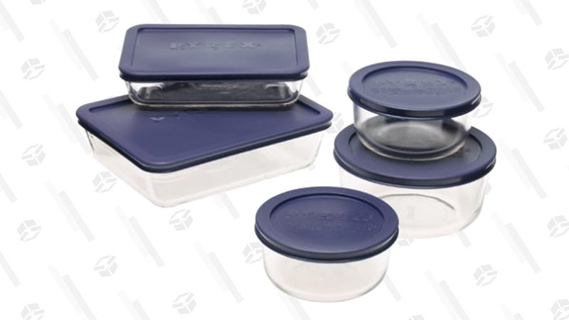 Pyrex 10-Piece Food Storage Set | $13 | Amazon