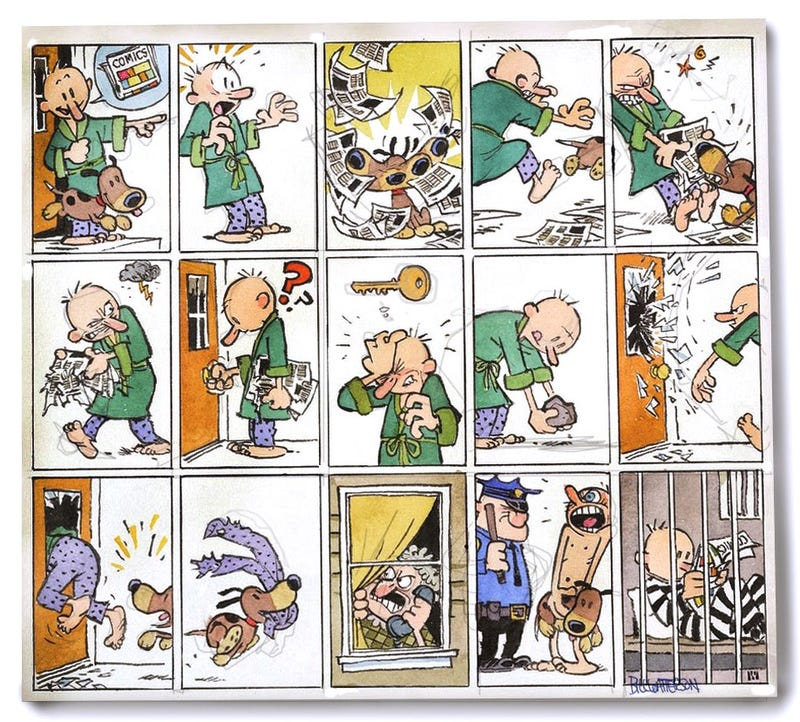 Illustration for article titled New Bill Watterson comic because we can't have enough Bill Watterson