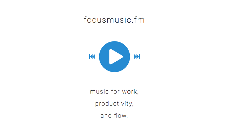 Illustration for article titled Focusmusic.fm Is Simple, Minimal, and Streams Music to Work To